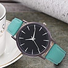 Watch  Fashion Simple Leisure Women Analog Leather Quartz  Watches-Sky Blue