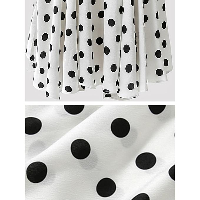 8256df8008f765 ... Women Plus Size Sleeveless Pullover Top T-Shirt Vest Polka Dot Vintage  Blouse ...
