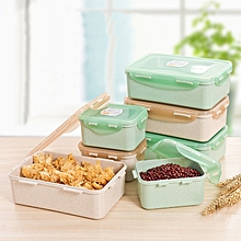 KCASA KC-BCH14 Wheat Straw Fiber Lunch Box Refrigerator Storage Eco Friendly Food Container S