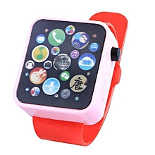 Children Multi-function Toy Watch Touch Screen Smartwatch Wristwatch For Early Education Color:Red Watch Strap
