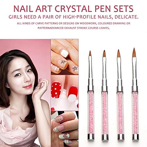 Buy Neworldline 4pcsset Uv Gel Nail Art Brush Polish Painting Pen