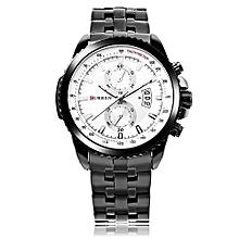 Watches, 8082 Curren Simple Fashion Male Quartz Watch Waterproof Business Wristwatch - Black