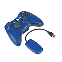 5 Colors Wireless Bluetooth Control Joystick Gamepad USB Charge For XBOX 360-Blue