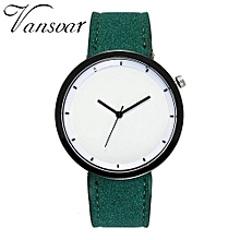 Fohting Vansvar Beautiful Fashion Simple Watch Ladies Leather Belt Watch For Gift -Green
