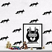 5PCS Vinyl Wall Sticker Fox Shaped Decal For Nursery Dormitory Bedroom Home Decoration