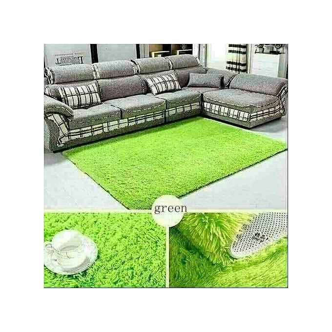 Buy Generic Fluffy Carpet -green Comfortable Carpet- 5x7