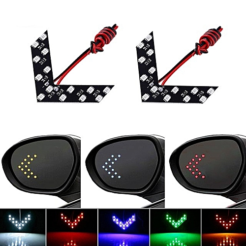 Light Rear View Turn Indicator Signal Panel 2 Pcslot Led Car For Mirror Arrow 14 Smd TJlc1FK