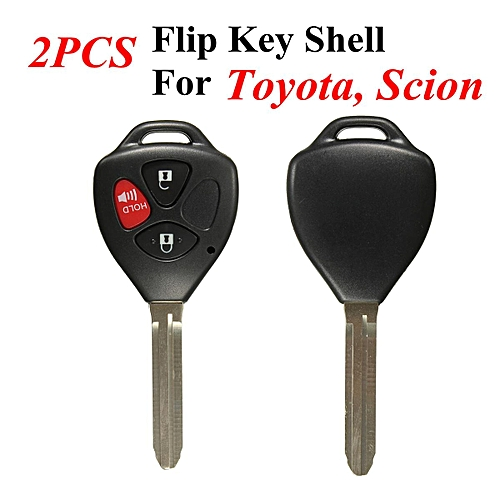 Generic 2xNEW Black 3 Buttons Remote Uncut Blank Key Fob Case Shell For Toyota Scion