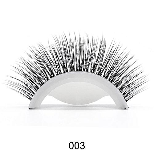 beb56357a04 3D Mink Reusable Self-adhesive False Eyelashes Natural Curly Thick No glue  Fake Eyelashes Make