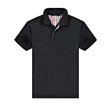 New Summer Fashion Casual Men's Short Sleeves Polo Shirts-Black
