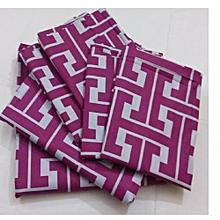 Flat Bedsheet Set - Purple & Grey Multicoloured