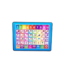 10'' Baby Learning Pad (Batteries Included) English Educational Toy Baby Gift For Kids- Blue