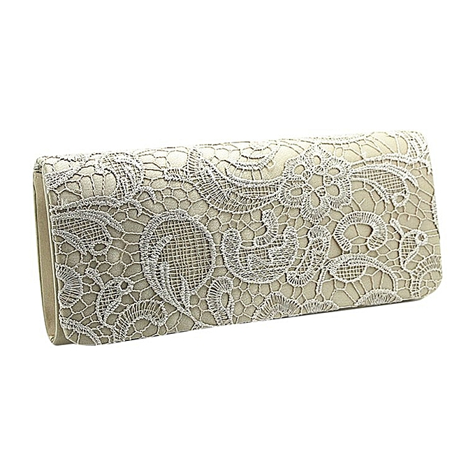 e082a410bf3 Luxury Design Silks And Stains Women Clutch Bag Evening Party Handbag Purse  Apricot