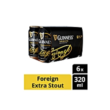 Draught Stout Can Beer 6 Cans - 320ml