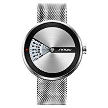 9784 Simple Men Watch Stainless Steel Strap Quartz Movement Watch Waterproof Casual Clock Wristwatch for Male