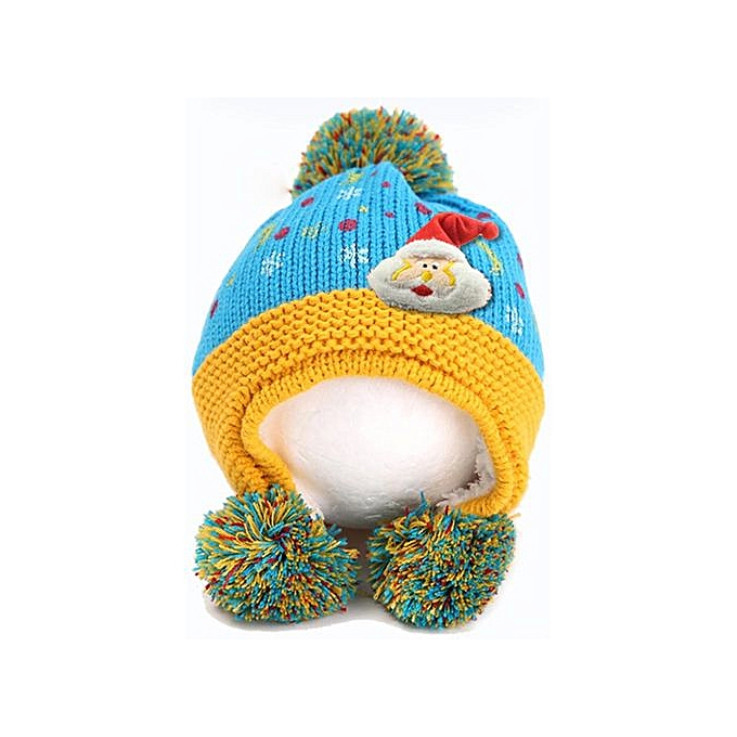 15afe8a0819e Cute Baby Toddler Girls Boys Santa Claus Fur Ball Knitted Winter Warm Hat  Cap YE-