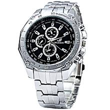 Man Quartz Watch With Decorative Sub-Dials - Silver