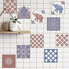Fast-sell 20 Pieces of New Exotic Retro Tiles with Diy Free Stitching Decorative Wall Paste