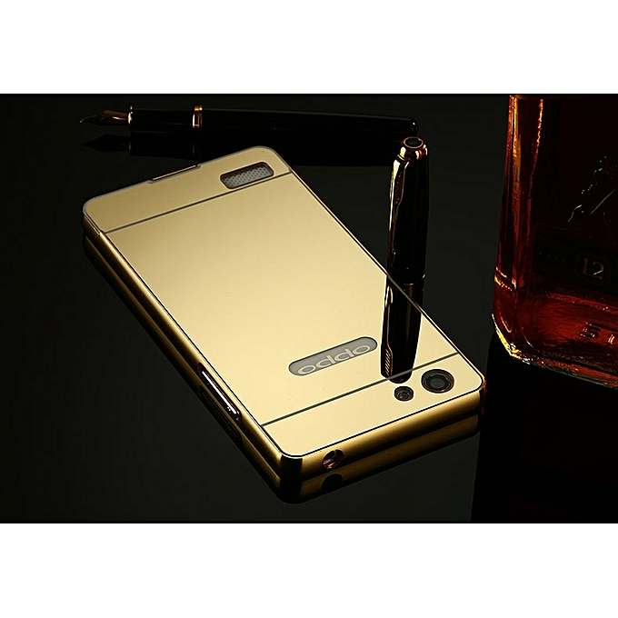 ... Luxury Metal Bumper Frame And Mirror PC Back Cover For Oppo Neo 7 A33