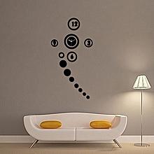 DIY Clock Acrylic Mirror Wall Sticker Clock Modern Design Home Decor