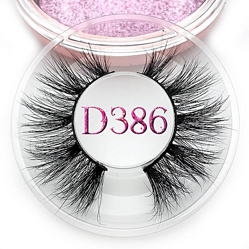 ba3254f17ac Generic Mikiwi D390 Mink Eyelashes 3D Mink Lashes Thick HandMade Full Strip  Lashes Cruelty Free Luxury Makeup Dramatic Lashes(C 0.15mm)