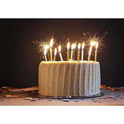 Generic 24 Pcs Sparkling Party Candle Birthday Cake Decoration Wedding Valentine Easter