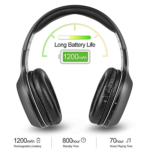 LEBAIQI EDIFIER W806BT Wireless Bluetooth Headphones On Ear Stereo Music Headset 70 Hours Playtime with Built-in Microphone 3.5mm Wired Earphone for Smart Phone Tablet PC Other Bluetooth Devices