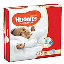 Dry Comfort Diapers, Size 2 (3-6kgs), (Count 68 Diapers)