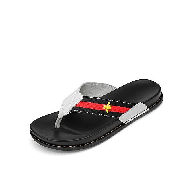 580331c5728 Fashion Men s Flip Flops Beach Sandals -White   Best Price