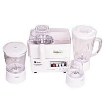 4-In-1 Blender/Juicer - 400W - -SAYONA-White