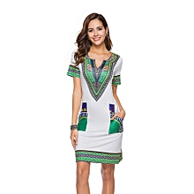 Women's Dress African Dashiki Print Casual Dresses