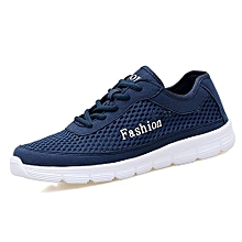 Men`s Breathable Running Shoes Sport Shoes-Blue