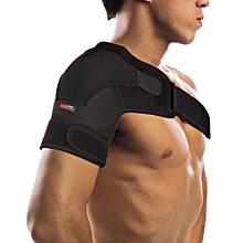 Mumian G02 4 Direction Adjustable Sports Single Shoulder Brace Support Strap Wrap Belt Band Pad - Right Black