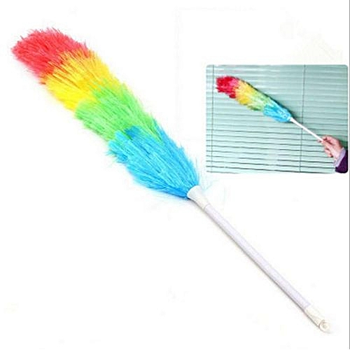 Generic Colorful Plastic Anti Static Cleaning Duster Household Long Handle Dust Brush For Car Furniture