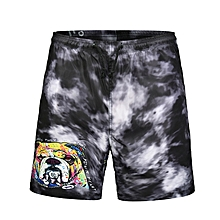 S664 Men Swimming Pants 3D Cartoon French Bulldog Printing Beach Shorts Board Shorts