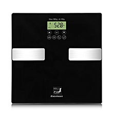 BF1201C1-GL-01 - Touch 400 Lb Digital Body Fat Scale - Black