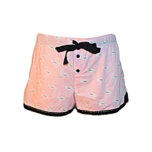 Pink Boxer Shorts With Flamingo Prints