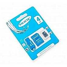Memory Card + Adapter - 4GB - Black