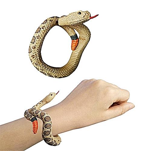 Simulation Resin Animal Python Bracelet Handmade Painted PVC