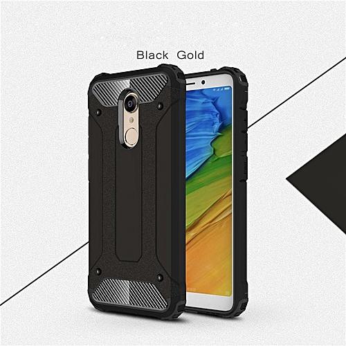 reputable site aa600 a8b86 Heavy Duty Protection Case For Xiaomi Redmi 5 Case Hybrid Armor Hard Back  Cover For Redmi 5 Funda (Black)