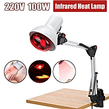 100W 220V Infrared Heat Lamp Therapy Light Pain Relief Health Care Desk