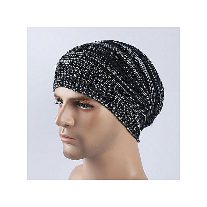 Eissely Mens Cashmere Winter Crochet Hat Ski Knit Warm Cap   Best ... 408d81a63a7
