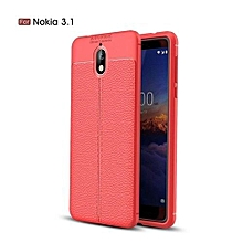 """For Nokia 3.1 / Nokia3.1 5.2"""" Luxury Soft Silicon Litchi Striae Leather Case For Nokia3.1 Case Coque Shock Proof Back Cover Case"""