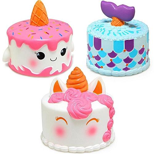 Generic Jumbo Squishy Squeeze Unicorn Mermaid Cake Slow Rising Cream Gift Kids ToyUnicorn