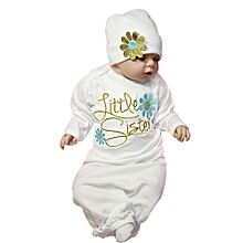 Newborn Infant Baby Letter Swaddle Blanket Sleeping Swaddle Muslin Wrap Hat Set