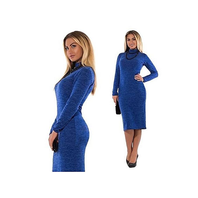 Buy Generic Refined Large Size Autumn Ladies Dress Ladies Solid