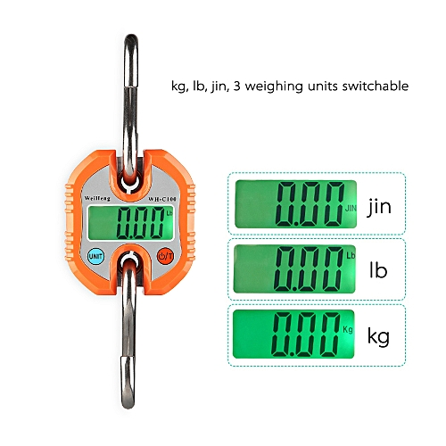 cc8fb916614e WeiHeng Mini Portable Electronic Scale Digital Luggage Scale Fish Scale  with Zero Tracking and Tare Function 150kg Double-range Scale Digital  Hanging ...