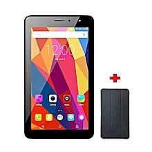 """Joy7 Max - 7"""" - 16GB -1GB RAM - 5MP - Dual SIM - 3G - Black + Flip Cover - Black"""