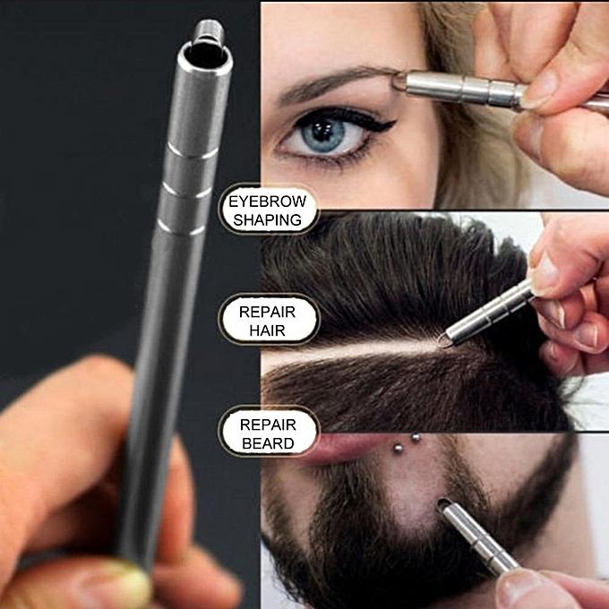 Multifunctional Hair Engraving Pen Hair Trimmer Engraved Razor Pen  Stainless Steel Shavings Eyebrows Tweezers Set For Salon( )