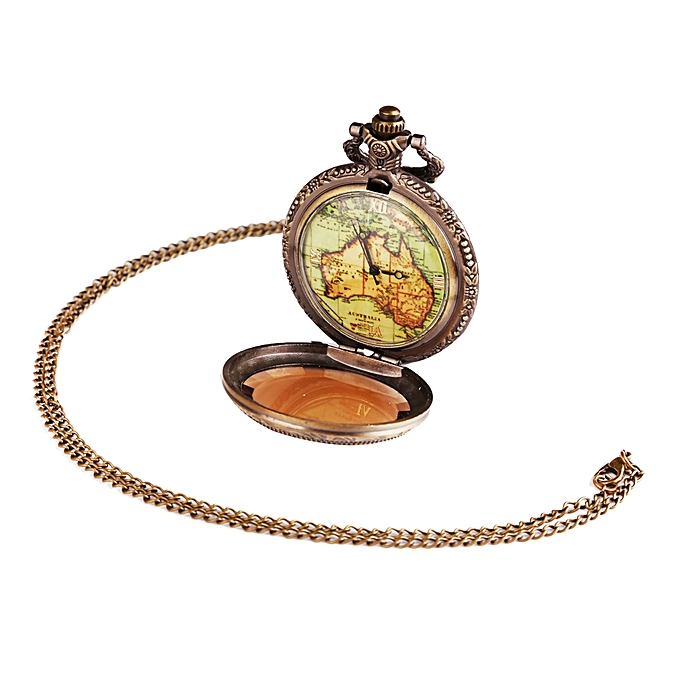 Buy generic ladys world map vintage style pocket watch gold best ladys world map vintage style pocket watch gold gumiabroncs Gallery